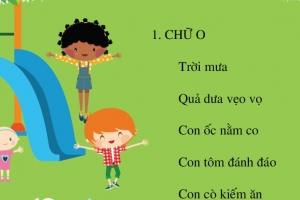 10 bài thơ cho bé mầm non học chữ cái cực nhanh