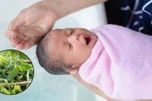 Có nên tắm nước lá cho trẻ sơ sinh?